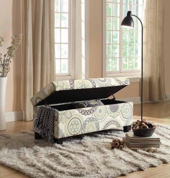 Bailey Medallion Storage Bench