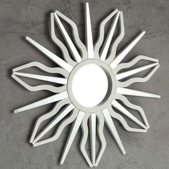 Midday Sunburst Round Wall Mirror