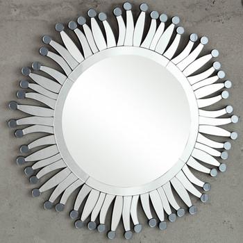 Pollen Sunburst Round Wall Mirror