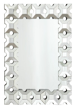 Latticework Rectangular Wall Mirror