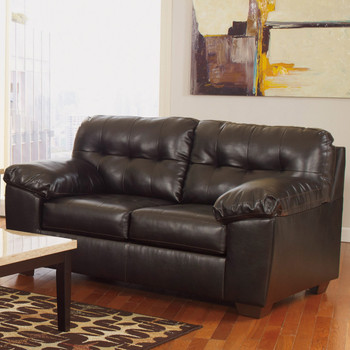 Avant Dark Chocolate Tufted Loveseat