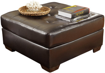 Avant Dark Chocolate Tufted Oversized Ottoman