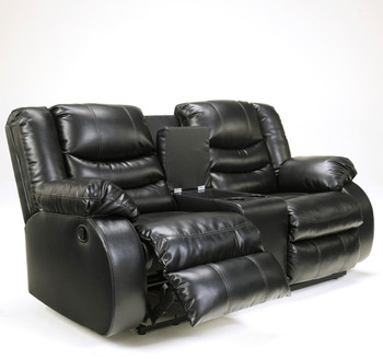 Enterprise Black Reclining Loveseat