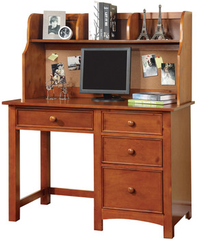 Connie Oak Desk with Corkboard