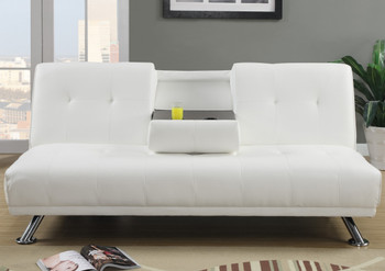 Nightowl White Sofa Bed with Console