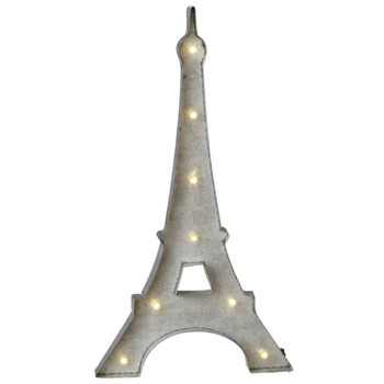 Eiffel Tower Distressed Silver Marquee Light