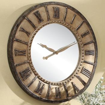 "Vilda Rusted 30"" Wall Clock"