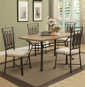 Amaris Light Oak 5PC Dining Set