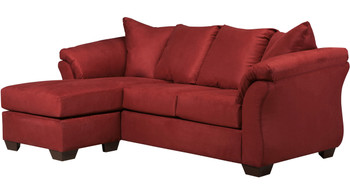 Edeline Spice Plush Sofa Chaise