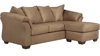 Edeline Mocha Plush Sofa Chaise