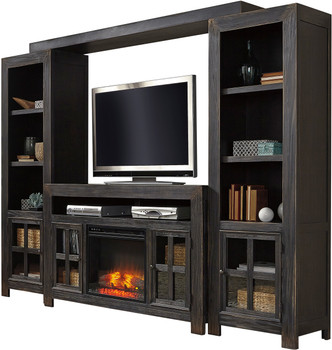 Corpus 5 Piece Wall Unit with Fireplace