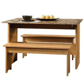 Origins Oak Trestle Table with Benches
