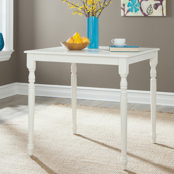 Cottage Beach White Counter Height Table