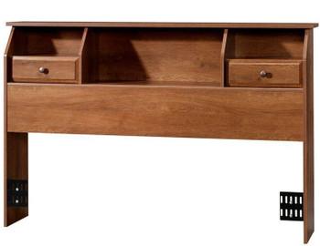 Vickery Oak Bookcase Headboard