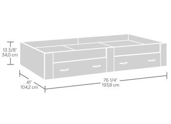 Origins White Platform Bed