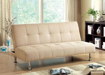Midor Ivory Fabric Sofa Bed