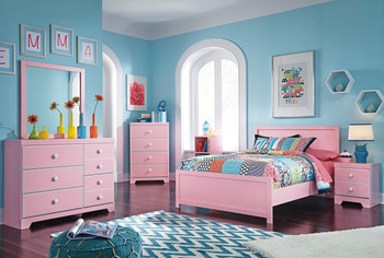 Ritzi Pink Bedroom Set