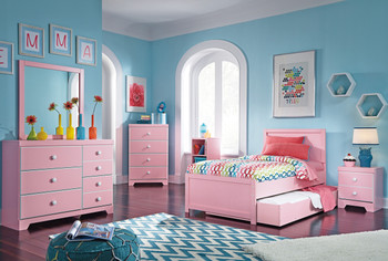 Ritzi Pink Trundle Storage Bedroom Set