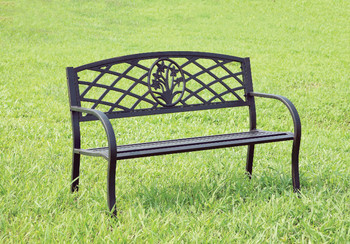 Breeze Black Outdoor Bench