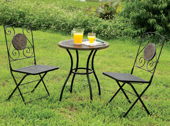 Backstage 3 Piece Outdoor Bistro Set
