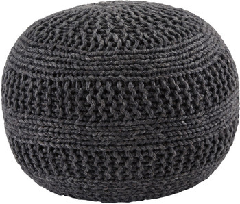 Benedict Charcoal Pouf