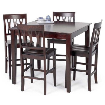 Crossover Dark Cherry 5 Piece Dining Set