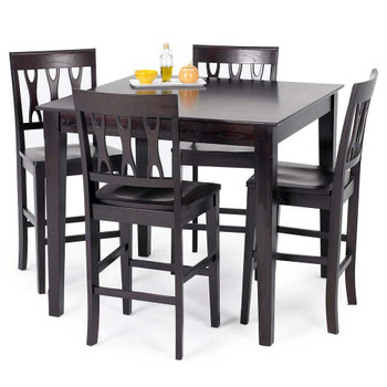 Crossover Dark Brown 5 Piece Dining Set