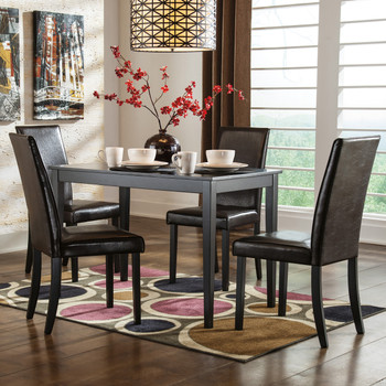 Alfredo Brown 5 Piece Dining Set