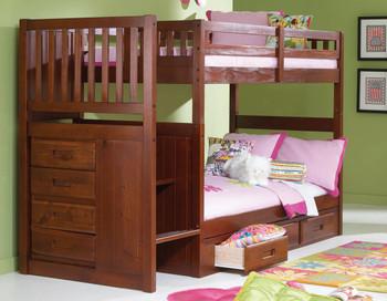 Nava Twin Stairway Bunk Bed