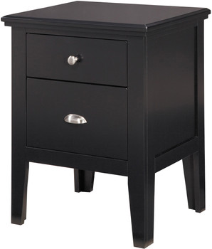 Lassi Black Night Stand