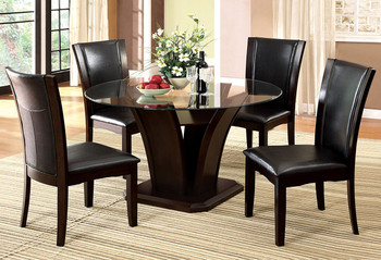 Sicilia Black 5 Piece Dining Set