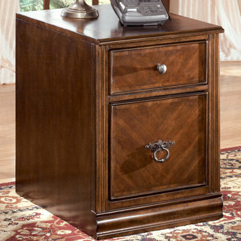 Hamlyn Brown 2-Drawer Mobile File Cabinet