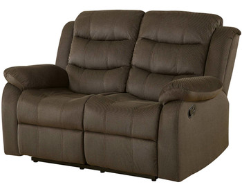 Gameday Chocolate Reclining Loveseat