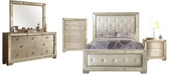 Hazemore Silver Bedroom Set