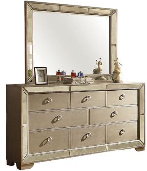 Hazemore Silver Dresser & Mirror
