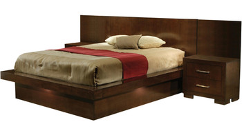 Andre Brown Bed with Built-In Stands