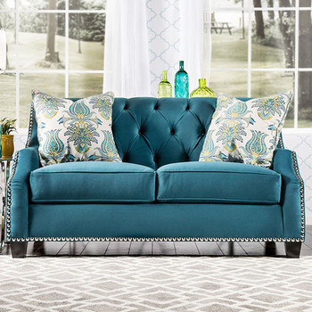 Azuri Blue Loveseat