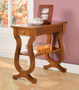 Antreas Antique Oak Side Table W/Drawer