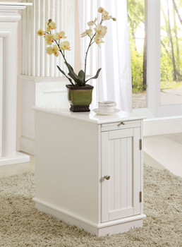 Halvar White Cabinet W/Pull Out Tray