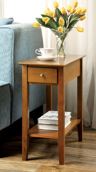 Indiana Oak Side Table W/Drawer