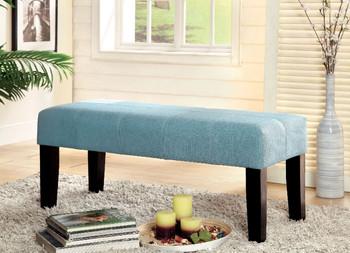 Stella Blue Fabric Bench
