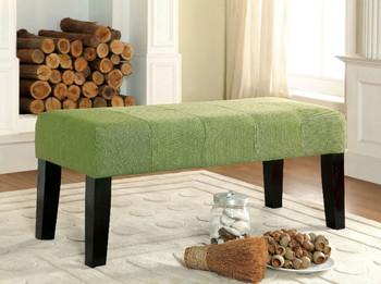 Stella Green Fabric Bench