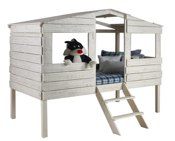 Bess Rustic Sand Tree House Loft Bed