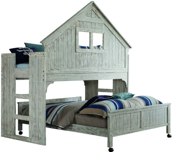 Biddy Loft Bunk Bed with Casters