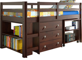 Brad Brown Low Loft w/Roll Out Desk and Storage