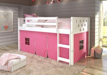 Bridgette Circular White Twin Loft- Pink Tent