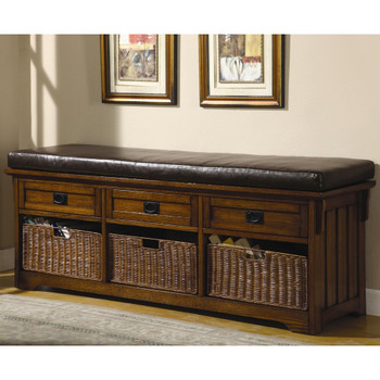 Gerben Storage Bench- Medium Brown