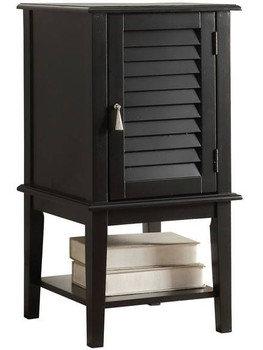 Abba Black Floor Cabinet