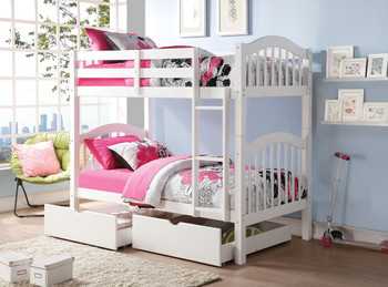 Ashebrooke Twin/Twin Bunk Bed- White