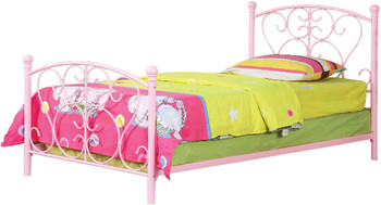 Adalyn Pink Twin Bed